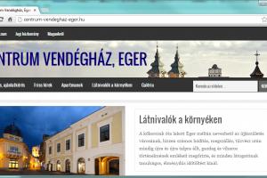 Honlap: Centrum Vendégház, Eger