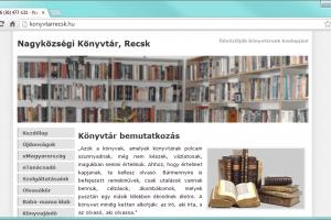 Honlap: Nagyközségi Könyvtár, Recsk